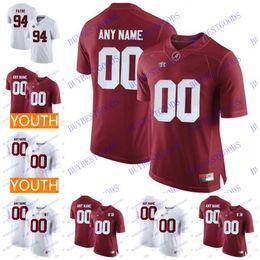Jerseys de fútbol cosido online-Custom Alabama Crimson Tide College Football Cualquier Número de Nombre Personalizado Cosido 13 Tagovailoa Jerseys Hombres Juventud S-3XL