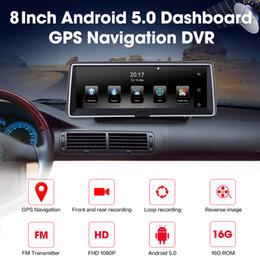 tela de polegadas de navegação por gps Desconto XGODY 3G 8 Polegada Navegação GPS Do Carro DVR Tela Sensível Ao Toque Android 5.0 Navegador 16 GB ROM Bluetooth WiFi Dash Câmera de Visão Traseira HD 1080 P