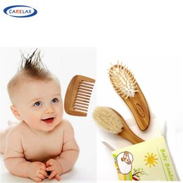 eco hair comb Coupons - 2017 Carelax Wooden Baby Hair Brush and Hair Brush Set Natural Goat Soft Bristles-Eco Bamboo Comb- Perfect Baby Set
