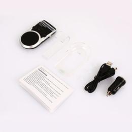 altoparlanti solari Sconti Altoparlante Solar Charging Bluetooth Car Kit vivavoce per auto Bluetooth MP3 Smart Trasmettitore wireless portatile Mic