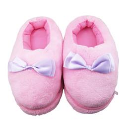 Wholesale Gadget Shoes - Wholesale-Centechia Top Quality Electric Heat Slipper USB Gadget Cute Bowknot pink Plush USB Foot Warmer Shoes