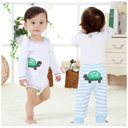Wholesale boys pants size 3t - Baby bodysuit tops pants long sleeve bodysuit boys girls body suit baby safe organic cotton