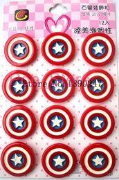 Wholesale 3d Movie Iron Man - 30X set Children Captain America Spider Man BatMan Flash Man Iron Man Pin Badge Avengers Hero Logo 3D Movie Hero Badges Brooches size 3.5cm