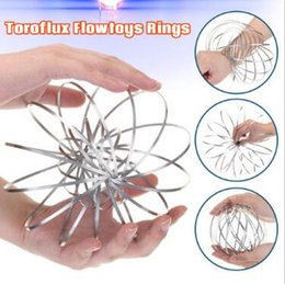 Wholesale Favor Games - Toroflux Torofluxus Flowtoy Amazing Flow Ring Toys Kinetic Spring Toy Funny Outdoor Game Intelligent Toy With Opp Package CCA9280 50pcs