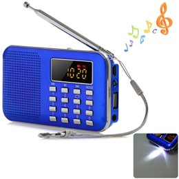 Mini haut-parleur portable radio numérique lcd fm usb carte mp3 lecteur mp3 avec lumière LED ? partir de fabricateur