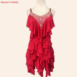 Детская одежда для детей онлайн-Sexy Backless Sling Latin Dance Performance Clothes Women's/Children's Latin Salsa Rumba Samba Dance Competition Costumes