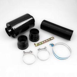 Frete Grátis Universal Kit Caixa De Filtro de Ar de Fibra De Carbono De Indução De Alimentação De Frio Kit de Admissão de Ar Kit Sem Ventilador de