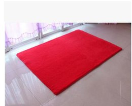 Wholesale Home Lamb - Soft Lamb Carpets For Bedding Room Yoga Mat Plush Fabric Fluffy Rugs Anti-Skid Shaggy Carpet Home Decoration