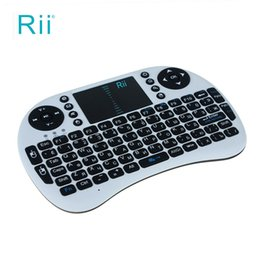 Wholesale Enjoy Life - Russian Version Rii mini i8 Wireless Keyboards Multi-media Remote Control and Touchpad Function Handheld Keyboard To Enjoy Life