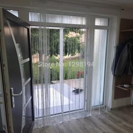 Brillant Tassel Flash Silver Line String Rideau Fenêtre Porte Diviseur Sheer Rideaux Cantonnière Maison De Mariage décoration 300x280 cm ? partir de fabricateur