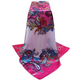 Sciarpa di seta bianca di stile della sciarpa di seta bianca blu di stile di FEITONG del capo 2017 nuove sciarpe della sciarpa della sciarpa della testa musulmana delle signore di progettazione da