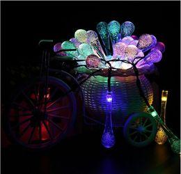 2020 lampade a bolle d'acqua classico hot pin light string 5M20LED solare goccia d'acqua bolla goccia di pioggia lampada stringa lampade a bolle d'acqua economici