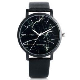 Wholesale Marble Gifts - Unique Men Wristwatch Marble Grain Design Quartz Clock Lover Watches Stainless Steel Bands Women Bangle Valentine Gift Montre Femme