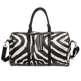 2dc88a4f49 2018 Zebra pattern Gym Bag Training Bag Men Woman Fitness Bags Durable  Multifunction Handbag Outdoor Sporting Yoga travel
