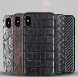 Wholesale Iphone Crocodile Cover - Fashion Black Embossed Crocodile Pattern Phone Case For Iphone X 8 7 6 5 Covers 5.5'' 4.7'' Custom Name Service