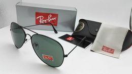 Wholesale color pc case - 2018 New Vintage Aviator Sunglasses Pilot RAY 62mm Men Women UV400 Band Polarized BEN Gafas Mirror Lenses Sun Glasses BANS with cases