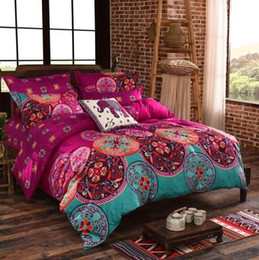 Wholesale Oriental Cover - Oriental Mandala Duvet Quilt Doona Cover Set Full Queen King Twin All Size Bohemian Free Shipping