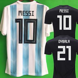 Wholesale argentina messi jersey - Thailand World cup 2018 ARGENTINA Soccer Jerseys camisa de futebol MESSI Jersey DYBALA HIGUAIN DI MARIA ICARDI Football kit soccer shirt