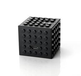 Wholesale Brick Computer - Building Blocks Bluetooth Wireless speaker Cube Puzzle toy brick design subwoofer Constructible brick Stackable Speaker gadgets