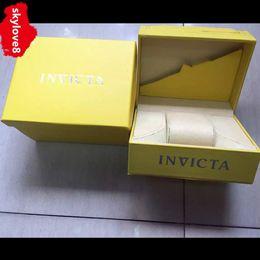 Wholesale Watch Cases - AAA outdoor sports men's invicta watch Box INVICTA case original Wooden materials top brand invicta watches