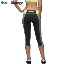 Wholesale Heal Up - Wholesale-HEAL ORANGE 2017 Fitness Women Running Tights Sports Push-Up Elastic Sport Pants Women Sport Trousers Running Pants Gym Crops
