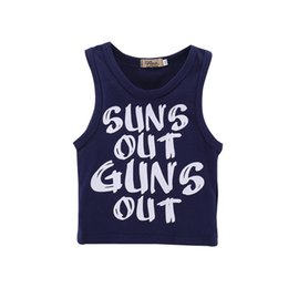 Wholesale summer vests for boys - Mikrdoo Summer Fashion Baby Boy Clothes Sleeveless Letter Printed Vest Top Toddler Cotton Casual Clothing For 0-18M
