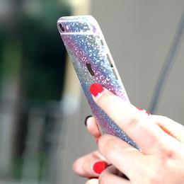 autoadesivo completo della protezione del corpo Sconti Glitter Bling Shiny Full Body Sticker Matte Screen Protector per iphone7 7plus Samsung S7 bordo S8 plus anteriore + Indietro decalcomanie Vendita calda