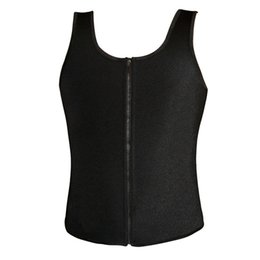 0db645f3da0 Latex Waist Cincher Men Rubber Bone Hot Fat Burning And Control Slimming  Fit Vest Body Shaper Zipper Close Underwear Bustier 6XL