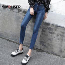 4e61a0bcf2cb Vintage Jeans Femmes Pantalons Plus La Taille 32 Denim Blue Jeans Leggings  Maigre Crayon Pantalon Haut Stretch Femme Pantalon Dames 2018