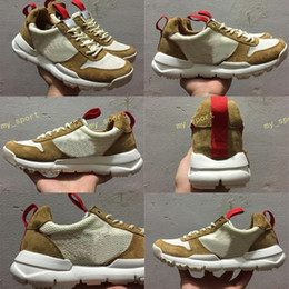Wholesale natural flat shoes - New Released Tom Sachs Craft Mars Yard TS NASA 2.0 Shoes AA2261-100 Natural Sport Red-Maple Unisex Causal Shoes Size 36-45