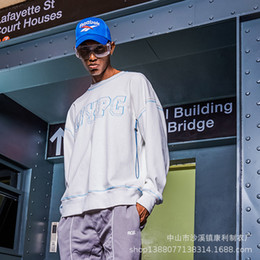 BNG 2018 Autumn New Pattern Street Hip Hop High Street Round Neck Nothing  Hat Pullover Men s Sweater 5b7abe4d1aa2
