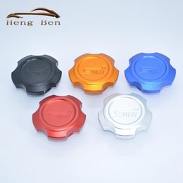 Wholesale Oil Filter Car - HB Car Styling Oil Filter Cap Fuel Tank Cover For Subaru Outback XV Auto Accessories Aluminum With Logo Car Styling