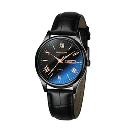 Wholesale Water Week - 2018 SANDA Leather Calendar Men's Watches Top Brand Luxury Luminous Wrist Watch Bussiness Week Gold Clock relogio masculino SD213
