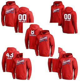 f512094e649 2018 Washington Capitals 70 Braden Holtby 43 Tom Wilson 8 Alex Ovechkin  Custom Name   Number Hockey Hoodies Jerseys Mens Womens Kids Red