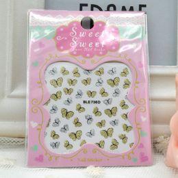 YENI 3D Kelebek Nail Art Shinning Etiketler DIY Süslemeleri Nail Art İpuçları Aksesuarları Seçmek için Çok Renk supplier 3d butterfly nail art nereden 3d kelebek çivi sanatı tedarikçiler