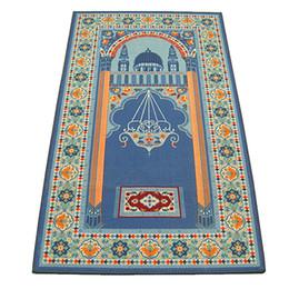Moslemische matten online-Muslime beten persische Teppiche Teppichmatte Bodenbelag Schnittflor Multi Color Qualität weiches Material