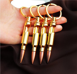 Wholesale metal ideas - Customizable creative bullet bottle opener key ring bullet shaped key chain nice gift idea for military fan free wholesale shipping