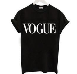 Canada Mode Lettre VOGUE T-shirts pour les femmes Hot Print t-shirt à manches courtes noir Tops Plus Size Femme T-shirts t-shirts supplier black letter print t shirt Offre