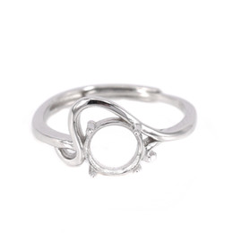 sterling silber ring einstellung oval Rabatt 925 Sterling Silber Verlobung Ehering für Frauen 7x7mm Oval Cabochon Semi Mount Ring Einstellung DIY Stein Trendy Fine Jewelry