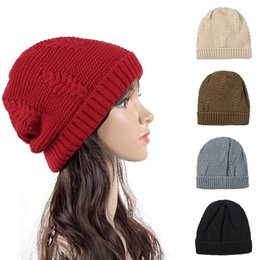 7ed3e63c113 Designe Knitting Pattern Sport Cable Beanies Hats Winter Warmer Rib Hats  For Adults Mens and Womens Yarn Thick Snow Caps Gorro Gorras