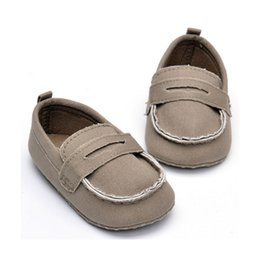 Wholesale First Homes - MSMAX Baby Shoes Girls Boys First Walkers Solid Soft Sole Anti-Slip Canvas Slip On Toddler Home Casual Crib Shoes