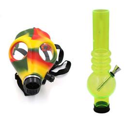 masques de fumée en gros Promotion Prix de gros Masque en silicone Creative Acrylique Fumer Pipe Masque À Gaz Acrylique Bongs D'eau Pipes Livraison Gratuite