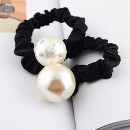 2019 weißseil zum verkauf Mode Neue Dame Schwarz Weiß Vintage Luxus C Stil Dame Designer Gummiband Kopf Zubehör Perle Haar Seil Heißer Verkauf 7zfa aa günstig weißseil zum verkauf