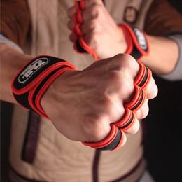 guantes de apoyo para los dedos Rebajas Soporte de muñeca Pull Up Bar Pulsera Hombres Powerlifting Guantes de artritis Gym Finger Sleeve Polsbrace Túnel carpiano Lifting de peso
