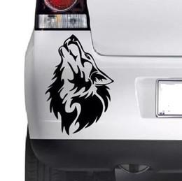 Vinilos de pared lobos online-Diseño de carros para Wolf Howling Car Window Bumper Wall JDM VW Novedad Etiqueta de vinilo adhesivo