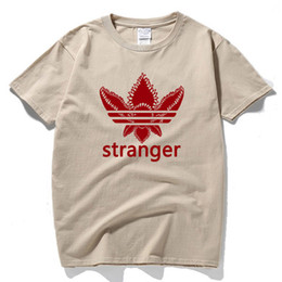 Mens xxl tshirts online-Stranger Things Uomo outdoor escursionismo T-Shirt da uomo O-Collo manica corta Casual magliette uomo in cotone traspirante magliette da uomo magliette