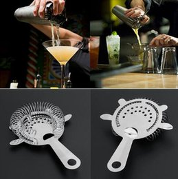 Wholesale Shakers Wholesale - Cocktail Shaker Bar Strainer Barware Tools Ice Mesh Strainer Bar Percolator Colander Cocktail Martini Drinking Strainer KKA3977