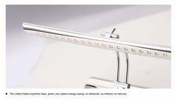 sconces de aço inoxidável Desconto Lâmpadas de parede LED banheiro levou espelho de luz 5W 40cm 7W 55cm AC85-265V aço inoxidável arandelas de parede iluminação com interruptor