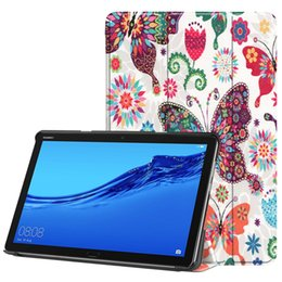 "books for painting Promo Codes - Book Flip Ultra Slim Painted PU Leather Case for Huawei Mediapad M5 Lite BAH2-L09 BAH2-W19 DL-AL09 10.0"" Tablet Smart Awake Sleep Cover"