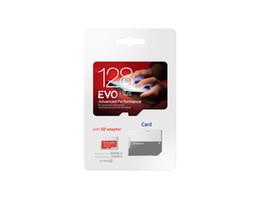 Argentina 2018 blanco EVO Plus + 64 GB 32 GB 128 GB TF tarjeta de memoria flash Clase 10 SD adaptador de paquete de ampolla al por menor Epacket DHL envío gratis Suministro